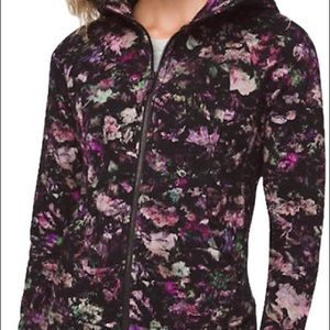 Lululemon Scuba floral black hoodie 4 NWT